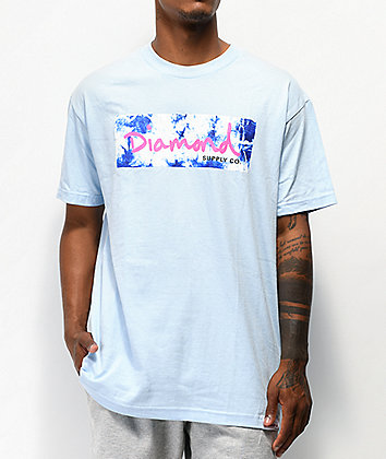 Diamond Supply Co. Color Burst Baby Blue T-Shirt