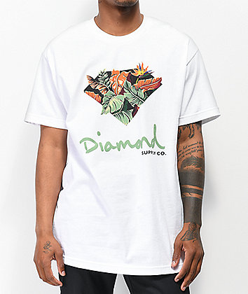 Diamond Supply Co. Paradise OG Sign White T-Shirt