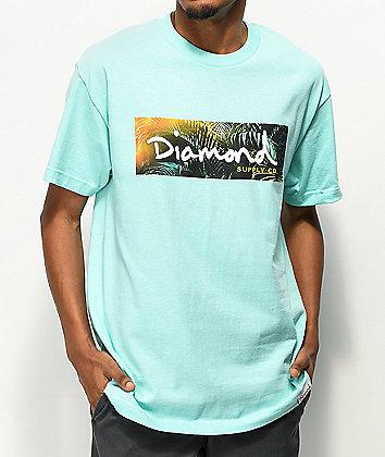 Diamond Supply Co. Tropic Box Logo Blue T-Shirt