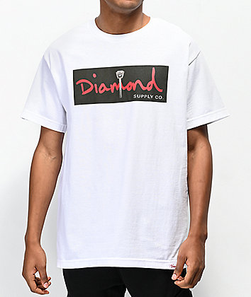 Diamond Supply Co. Vows Box Logo White T-Shirt