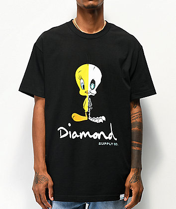 Diamond Supply Co. x Looney Tunes Tweety X-Ray Black T-Shirt