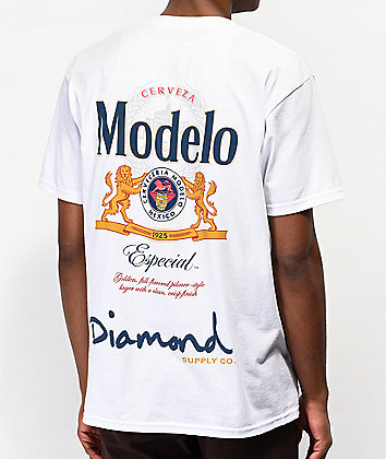 Diamond Supply Co. x Modelo Especial White T-Shirt