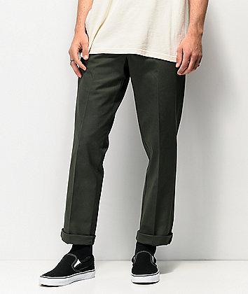 Dickies '67 Slim Fit Olive Green Work Pants
