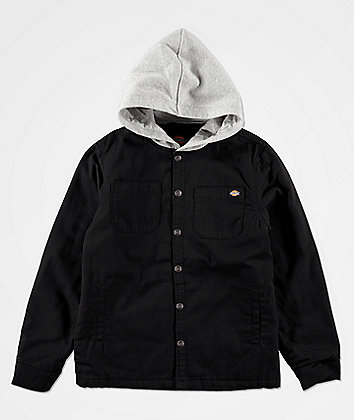 Dickies Boys Black Hooded Jacket