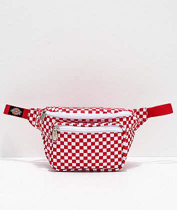 Dickies Checkerboard Red & White Fanny Pack