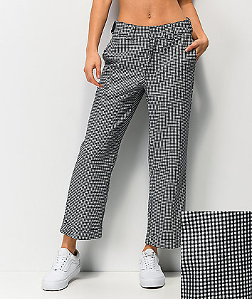 Dickies Roll Hem Black & White Checkered Work Pants