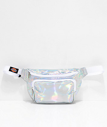 Dickies Silver Iridescent Hip Sack Fanny Pack