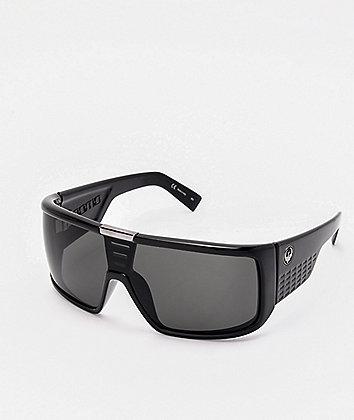Dragon Domo Gloss Black & Jet Grey Sunglasses