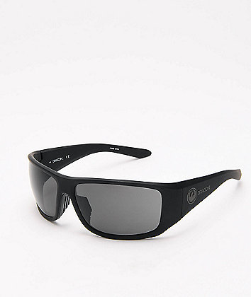 Dragon Jump Matte Black & Grey Sunglasses
