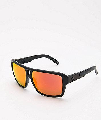 Dragon The Jam Matte Black Red Ion Sunglasses