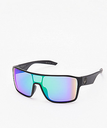 Dragon Tolm Ion Matte Black & Green Sunglasses