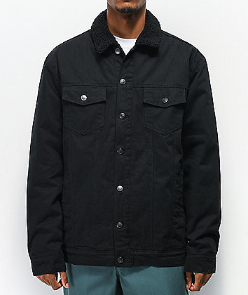 Dravus Daven Black Sherpa Denim Jacket