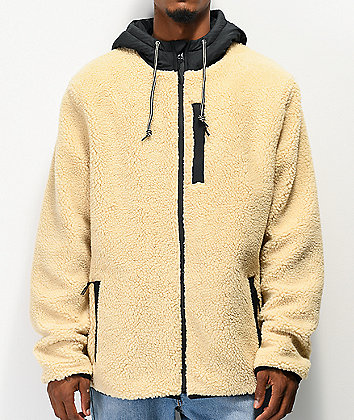 Dravus Denny Cream Colorblock Sherpa Jacket