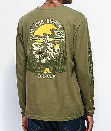 Dravus High Life Green Long Sleeve T-Shirt