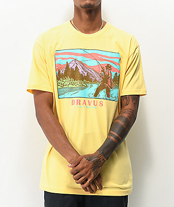 Dravus Out Fishing Yellow T-Shirt