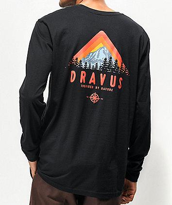 Dravus Tree Line Black Long Sleeve T-Shirt
