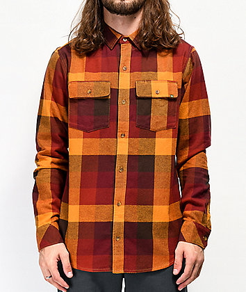 Dravus Willard Orange & Red Flannel Shirt