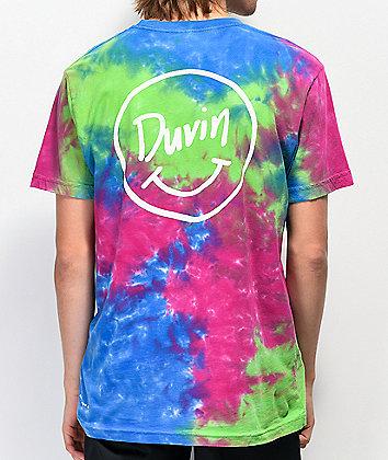 Duvin Smile Blue & Green Tie Dye T-Shirt