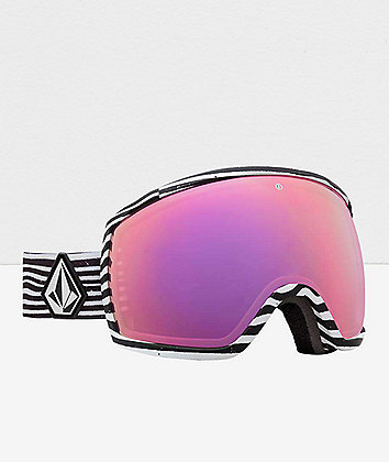 Electric x Volcom EGG Brose Pink Chrome Snowboard Goggles