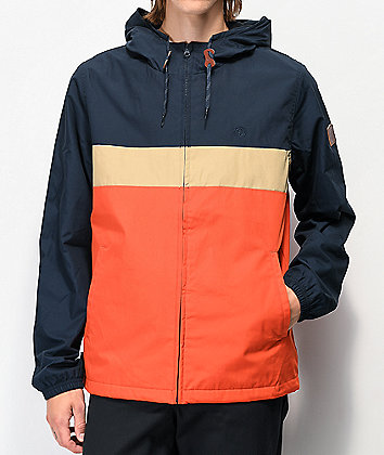 Element Alder Orange, Khaki & Navy Colorblock Jacket