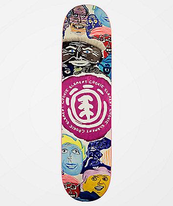 "Element Cookie Faces 8.0"" Skateboard Deck"