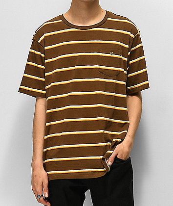 Element Grenson Brown Striped T-Shirt