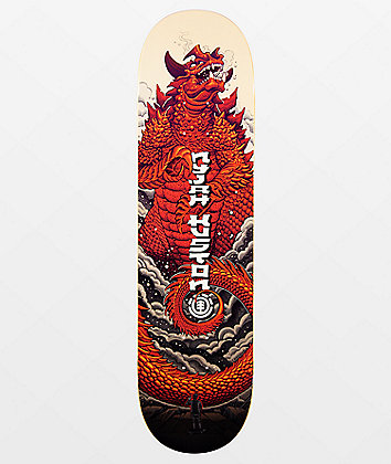 "Element Nyjah Reptilicus 8.25"" Skateboard Deck"