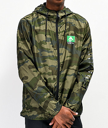 Emerica Classic Combo Camo Windbreaker Jacket