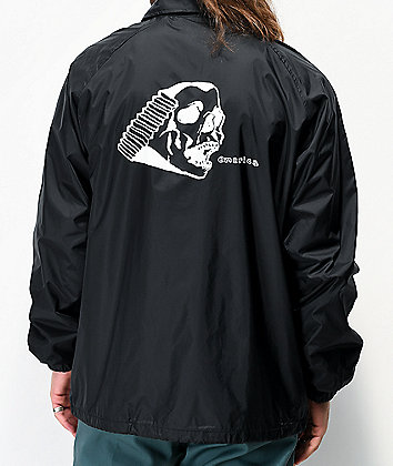 Emerica Spanky Skull Black Coaches Jacket