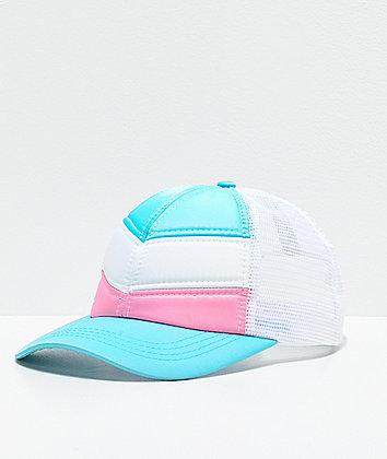 Empyre Aleksia Quilt Chevron White, Blue & Pink Snapback Hat