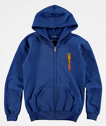 Empyre Boys Diablo Blue Zip Up Hoodie