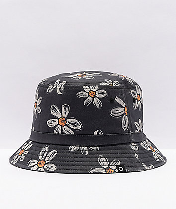 Empyre Bucket O' Daisies Black Bucket Hat