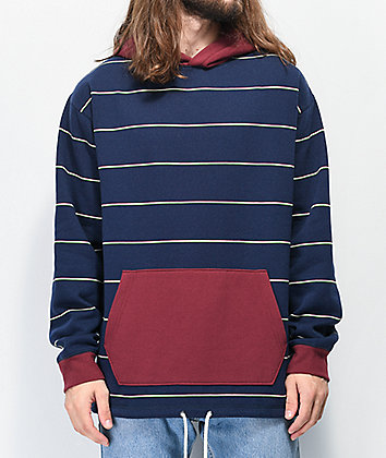 Empyre Caliber Navy & Maroon Stripe Hoodie