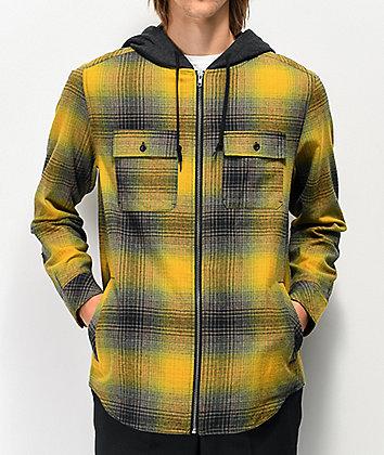 Empyre Chadder Yellow Hooded Flannel Shirt