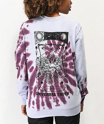 Empyre Crowley Purple Tie Dye Crew Neck Sweatshirt