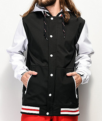 Empyre Lily Express Black, White & Red 10K Snowboard Jacket