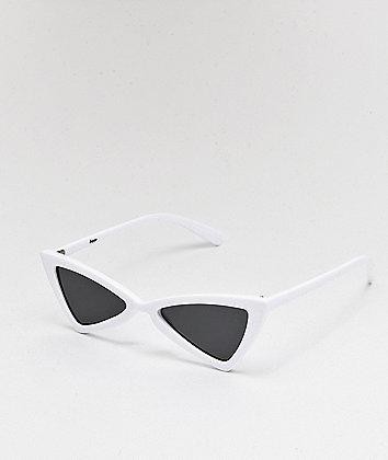 Empyre Mina White & Black Bowtie Sunglasses
