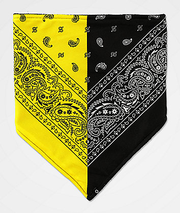 Empyre Paisley Split Yellow & Black Face Mask