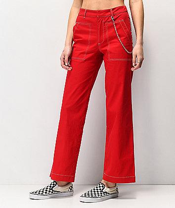 Empyre Sela Chain Red Wide Leg Pants