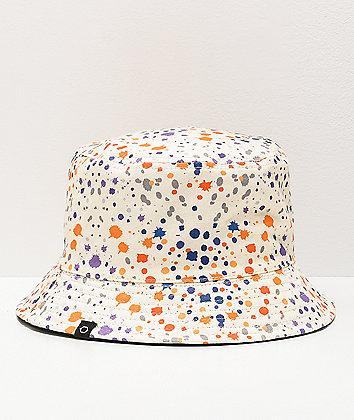 Empyre Splatter White & Black Reversible Bucket Hat