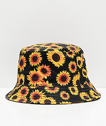 Empyre Sunflower Black Bucket Hat