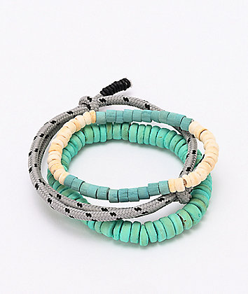 Empyre Turquoise, Cream & Grey 3 Pack Bracelets