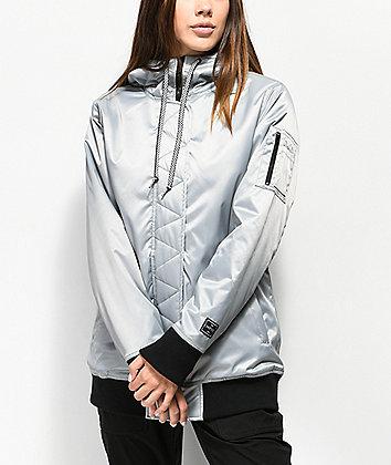 Empyre Vallerd chaqueta de Snowboard 10K plateada