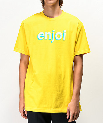 Enjoi Helvetica Neue Yellow T-Shirt
