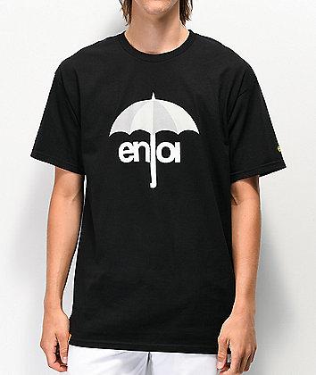Enjoi Umbrella Logo Black T-Shirt