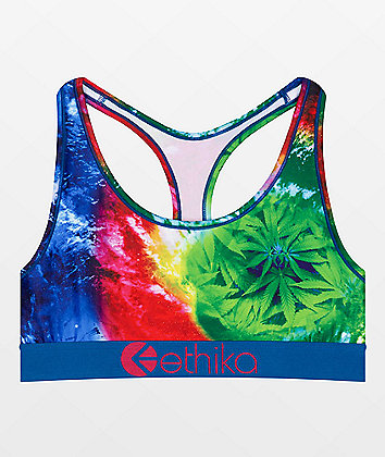 Ethika Rainbow Greens Sports Bra