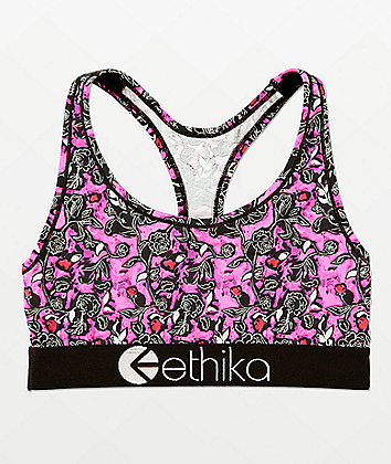 Ethika Water Color Pink Sports Bra