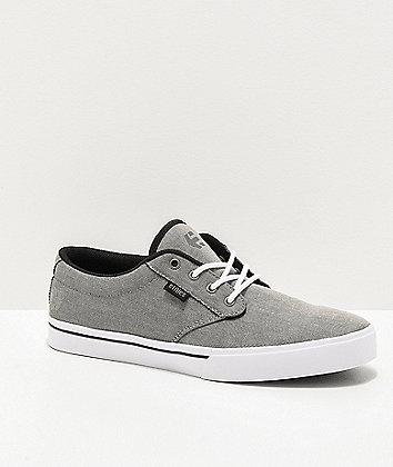 Etnies Jameson 2 Eco Ash Grey & White Skate Shoes