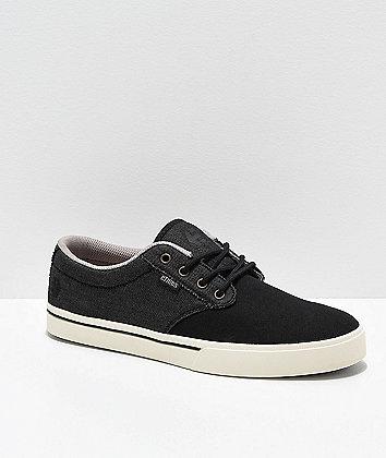 Etnies Jameson 2 Eco Black, White & Gold Skate Shoes