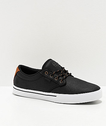 Etnies Jameson 2 Eco Black & Gold Skate Shoes